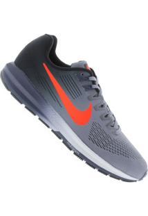Tênis Nike Zoom Structure 21 - Masculino - Azul/Laranja Esc