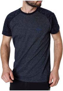 Camiseta Manga Curta Masculina Azul Marinho