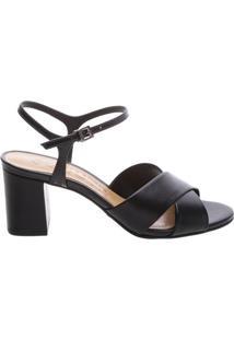 Sandália Simple Block Heel Black   Schutz