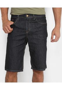 Bermuda Jeans Reta Rockblue Masculina - Masculino-Preto