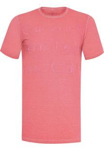 Camiseta Masculina Ckj Baixo Relevo - Vermelho