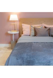 Cobertor De Casal Cozy Grid Azul 180X220Cm