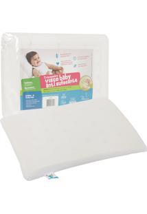 Travesseiro Fibrasca Visco Antissufocante Percal 30X40Cm Branco - Branco - Dafiti