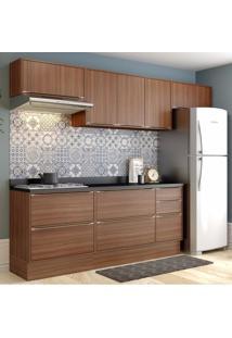 Cozinha Completa 8 Peças 8 Portas Calábria Multimóveis Nogueira