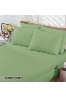 Jogo De Cama Basic King Size- Verde- 3Pã§S- Buettbuettner