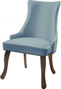 Cadeira Rocaille Azul Claro Base Castanho - 50576 - Sun House