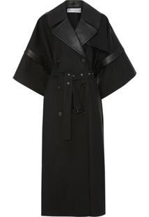 Jw Anderson Kimono Trench Coat - Preto