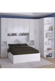 Dormitório De Casal Completo 1219 Branco