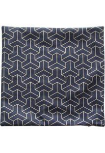 Capa Para Almofada Geomã©Trica- Cinza Escuro & Bege- Btc Decor
