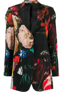 Paul Smith Floral Single-Breasted Blazer - Preto
