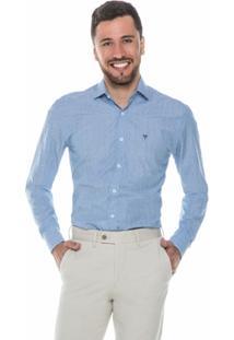 Camisa Azul Claro Poá - Masculino