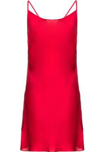Camisola Curta Sem Manga Cetim Betty Boop Loungerie – Vermelho