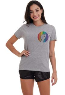 Camiseta Basica Joss Lgbt Raise Your Hands Mescla - Kanui