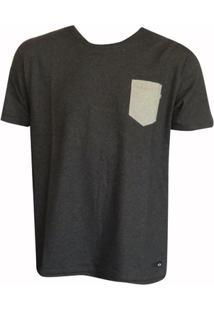 Camiseta Esp. Prime Poket Black Heather Oakley - Masculino