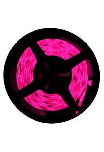 Fita Led Taschibra 5W 5M Bivolt Com Fonte Alimentação Rosa