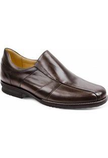 Sapato Social Masculino Side Gore Sandro Moscoloni Chuck Marrom