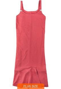 Vestido Vermelho Mídi Com Lurex