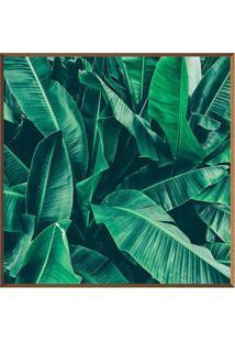 Quadro Decorativo Folhas- Marrom Claro & Verde- 40X4Arte Prã³Pria