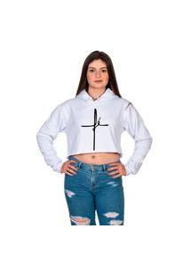 Blusa Cropedd Fé Estilo Tumblr Da Moda Promoção Selten Branco