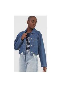 Jaqueta Jeans Gap Cropped Azul