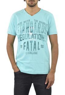 Camiseta Fatal Surf Standards Azul Claro