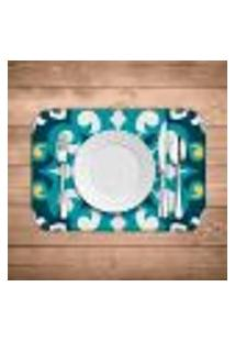 Jogo Americano Wevans Mandala Blue Kit Com 2 Pçs