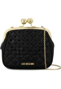 Love Moschino Coin Purse Clutch Bag - Preto