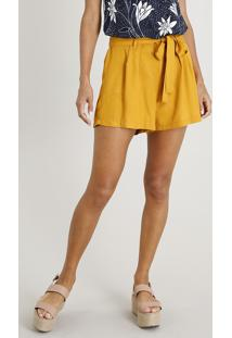 f6924993e45b9 Short Amarelo Lacoste feminino   Shoelover