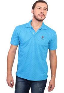 Camisa Polo New York Polo Club Full Print - Masculino-Azul Claro