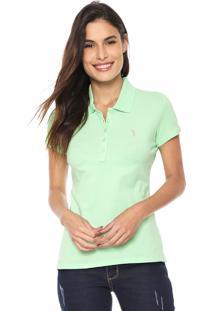 Camisa Polo Aleatory Logo Verde