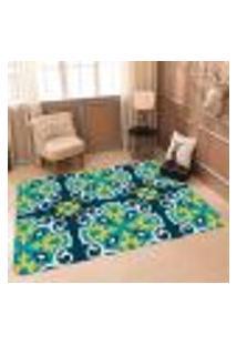 Tapete Sala Wevans Mandala Color Verde Único 90X125