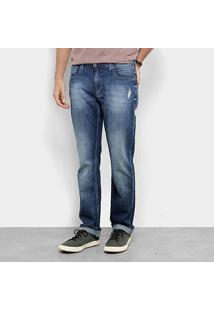 Calça Jeans Reta Zoomp Lowest Ulisses Estonada Masculina - Masculino