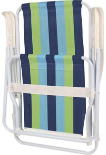 Cadeira De Praia 4 Posições Mor Aço Estampas Diversas - Item Sortido Unica