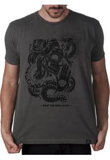 Camiseta Caveira Mexicana Keep The Soul Alive Masculina - Masculino