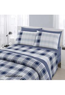 77e7b7888a ... Jogo De Cama Royal King Size- Azul Marinho   Branco-Santista