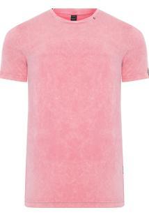 Camiseta Masculina Lateral A Fio - Rosa