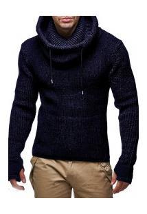 Blusa De Lã Masculino Queensland - Navy