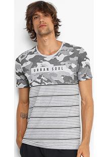 Camiseta Kohmar Camuflada Listras Masculina - Masculino