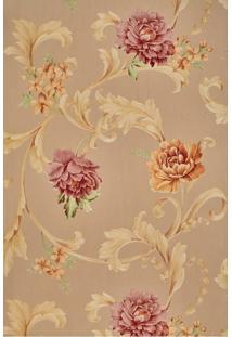 Papel De Parede Vinílico Lavável Maya Wallpaper 0,53 X 9,5M Flores