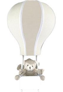 Abajur Balãozinho Cintura Urso Bege Quarto Bebê Infantil Menino
