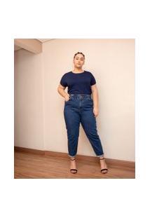 Blusa Básica Sem Cava Curve & Plus Size | Ashua Curve E Plus Size | Azul | Gg
