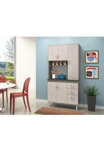 Cozinha Compacta 5 Portas Dalia Malbec / Avela - Peternella