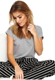 Camiseta Liz Easywear Cinza