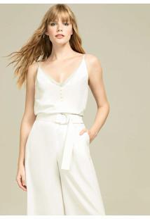 Calça Pantacourt Com Cinto Branco Off White - Lez A Lez