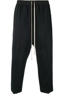 Rick Owens Drawstring Cropped Astaires - Preto