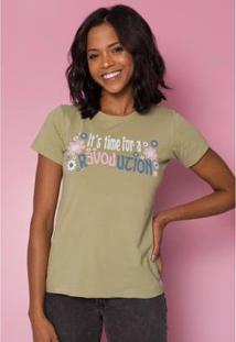 T_Shirt Revolution Feminina - Feminino-Verde