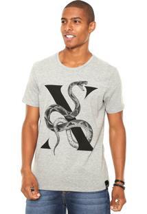 Camiseta Ellus Snake Cinza