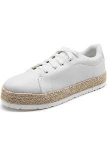 Tênis Sola Alta Dafiti Shoes Espadrille Branco