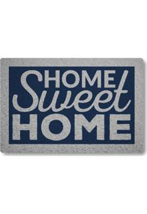 Tapete Capacho Home Sweet Home Ii - Azul Marinho