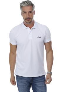 Camisa Polo Javali Mullet Bordado Branca